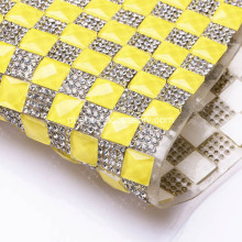 Fluorescente Yellow Rhinestone Trim
